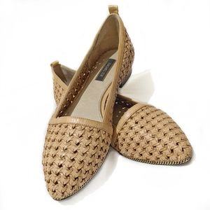 Tyler Woven Leather Flats 9.5